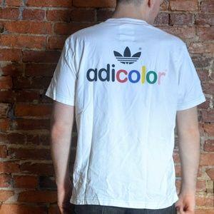 Adidas Adicolor W5 White Series Tee - Rainbow 🌈